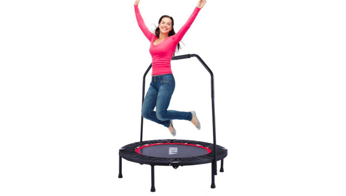 Trampolines are possibly the most fun way to stay in shape. (Photo: Walmart)