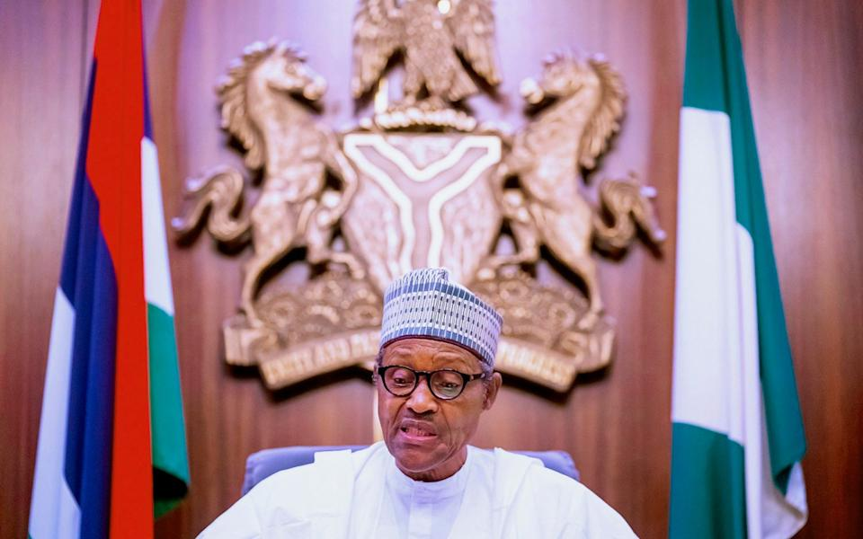 President Muhammadu Buhari told protesters that violence would not be tolerated - Bayo Omoboriowo/Nigeria State House