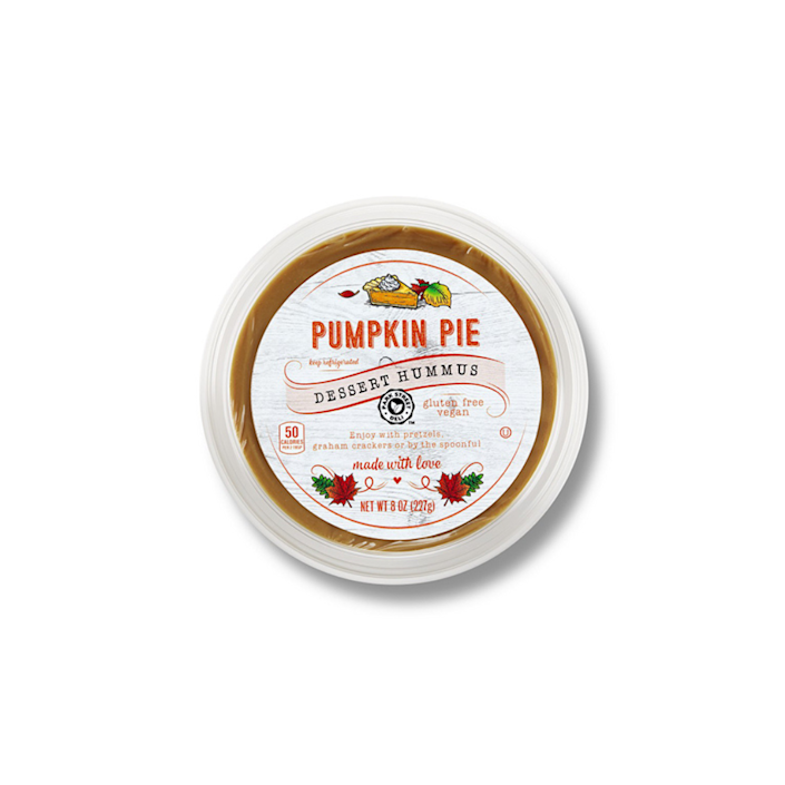hummus container on a white background