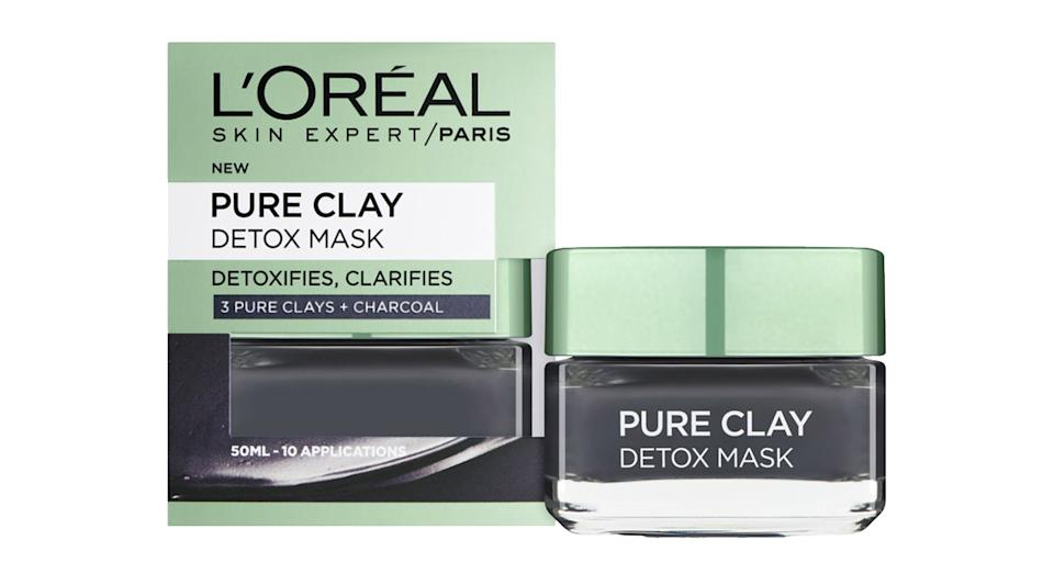 L'Oreal Paris Pure Clay Detox Face Mask Charcoal