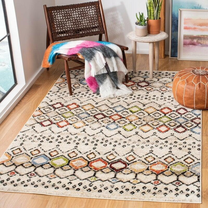 "<br><br><strong>World Menagerie</strong> Vadim Ivory Area Rug (5' x 7'), $, available at <a href=""https://go.skimresources.com/?id=30283X879131&url=https%3A%2F%2Fwww.wayfair.com%2Frugs%2Fpdp%2Fworld-menagerie-vadim-ivory-area-rug-wdmg7781.html"" rel=""nofollow noopener"" target=""_blank"" data-ylk=""slk:Wayfair"" class=""link rapid-noclick-resp"">Wayfair</a>"