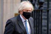 Britain's Prime Minister Boris Johnson is seen outside Downing Street in London