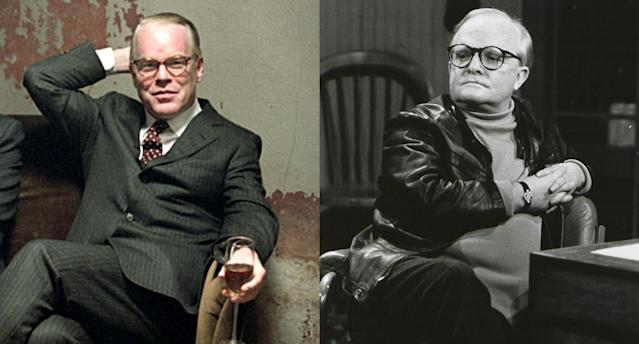 <p>Philip Seymour Hoffman's lone Oscar win was for his critically acclaimed — and physically spot-on — portrayal of <em>In Cold Blood</em> author Truman Capote in 2005's <em>Capote</em>. (Photo: Courtesy of Everett Collection/Getty Images) </p>
