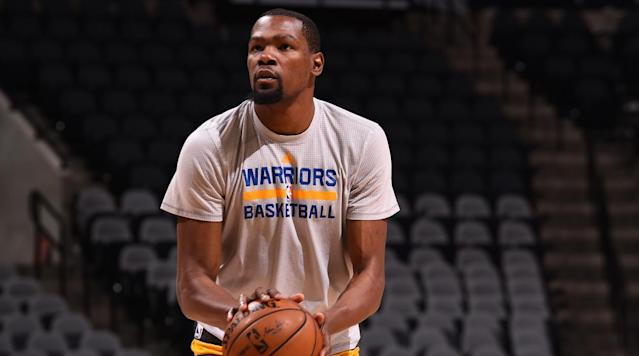 Kevin Durant says doctors originally thought he had broken his leg following his injury in late February.