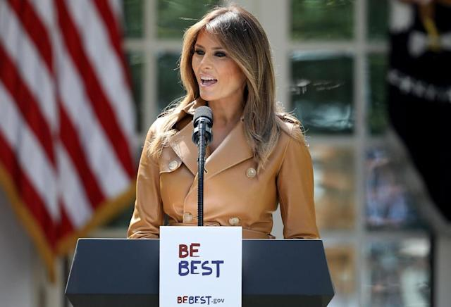 "Melania Trump announces her new ""Be Best"" initiative. (Photo: Getty Images)"