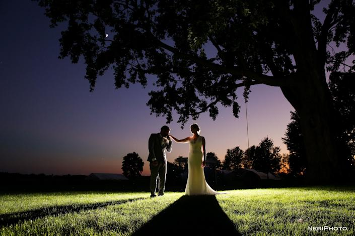 &quot;Zach and&amp;nbsp;Kelsey tied the knot at Heritage Prairie Farm in Elburn, Illinois.&quot; -- &amp;nbsp;<i>Neringa &quot;Neri&quot; Ridges</i>