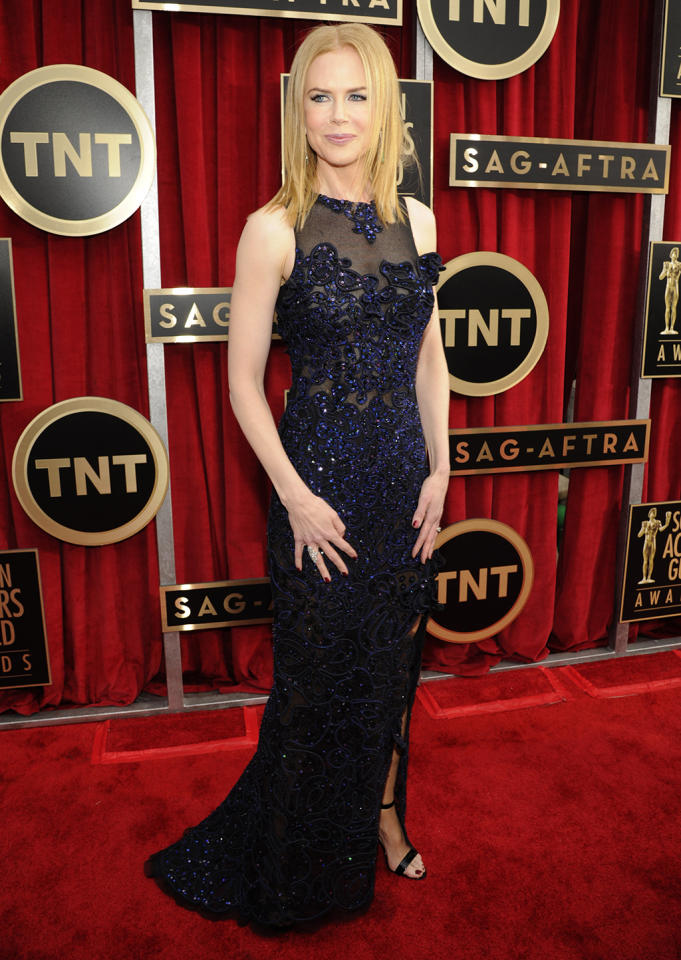 Nicole Kidman arrives at the 19th Annual Screen Actors Guild Awards at the Shrine Auditorium in Los Angeles, CA on January 27, 2013.