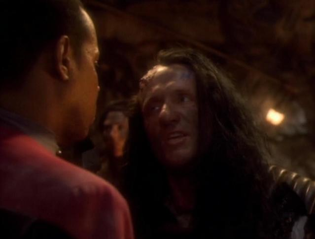 <p>Better call Golin Shel-la. Amongst the copious guest appearances on Banks's extensive pre-<em>Breaking Bad</em> TV resume is a freshman season <em>DS9 </em>episode where he played the leader of an alien race locked in eternal warfare with another faction.<br><br>(Photo: CBS) </p>