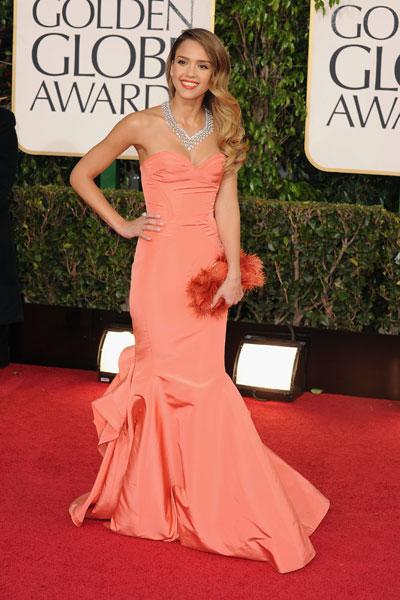 Jessica Alba arrives at the 70th Annual Golden Globe Awards held at The Beverly Hilton Hotel on January 13, 2013 in Beverly Hills, California. (Photo by Steve Granitz/WireImage)