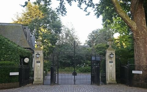 The gates of the US Ambassador's residence Winfield House, in Regent's Park, London - Credit: Yui Mok/PA Wire