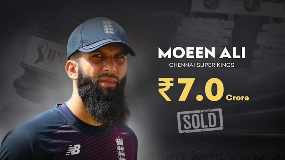 IPL 2021 Auction: Moeen Ali sold to CSK