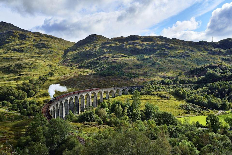 "<p>Head for Scotland's jaw-dropping Highlands this summer for a magical ride on the Jacobite, aka the Hogwarts Express. </p><p>Star of the Harry Potter films, this spectacular steam train is the perfect way to see Scotland's wild, remote scenery as you make your way from Fort William to Mallaig and across the amazing Glenfinnan Viaduct.</p><p>Spend four days in Scotland with Prima and you'll enjoy a ride on the Jacobite and the incredible Falkirk Wheel, as well as a Loch Katrine cruise from £1,195 per person.</p><p><strong>When? </strong>June, July and August 2021</p><p><a class=""link rapid-noclick-resp"" href=""https://www.primaholidays.co.uk/tours/scotland-highlands-steam-train-jacobite"" rel=""nofollow noopener"" target=""_blank"" data-ylk=""slk:FIND OUT MORE"">FIND OUT MORE</a></p><p><strong>We want to help you plan your next getaway with the experts. <a href=""https://hearst.emsecure.net/optiext/optiextension.dll?ID=iJB5XQ9hbysIihBPVSR1SDFHDwOevp5cB7mtotiL0TWlZ15eC%2BWQWXYp3HVN6xoPbvNGcYnocErOiJ"" rel=""nofollow noopener"" target=""_blank"" data-ylk=""slk:Sign up"" class=""link rapid-noclick-resp"">Sign up</a> to hear about our favourite financially protected escapes and bucket list adventures.</strong></p><p><a class=""link rapid-noclick-resp"" href=""https://hearst.emsecure.net/optiext/optiextension.dll?ID=iJB5XQ9hbysIihBPVSR1SDFHDwOevp5cB7mtotiL0TWlZ15eC%2BWQWXYp3HVN6xoPbvNGcYnocErOiJ"" rel=""nofollow noopener"" target=""_blank"" data-ylk=""slk:SIGN UP"">SIGN UP</a></p>"