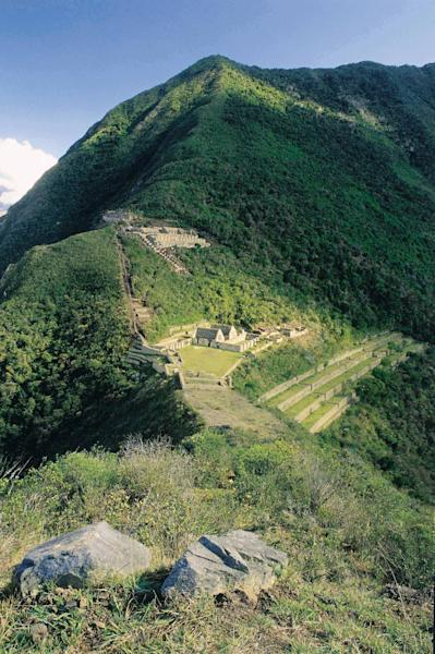 This Aug. 2004 photo provided by the Peru's government organization Promperu, shows the Choquequirao ruins in Cuzco, Peru. Peru's government has approved what will be Peru's first aerial tramway, making Choquequirao reachable in just 15 minutes from the nearest highway. (AP Photo/Promperu)