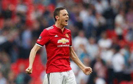 Soccer Football - FA Cup Semi-Final - Manchester United v Tottenham Hotspur - Wembley Stadium, London, Britain - April 21, 2018 Manchester United's Nemanja Matic celebrates after the match Action Images via Reuters/John Sibley