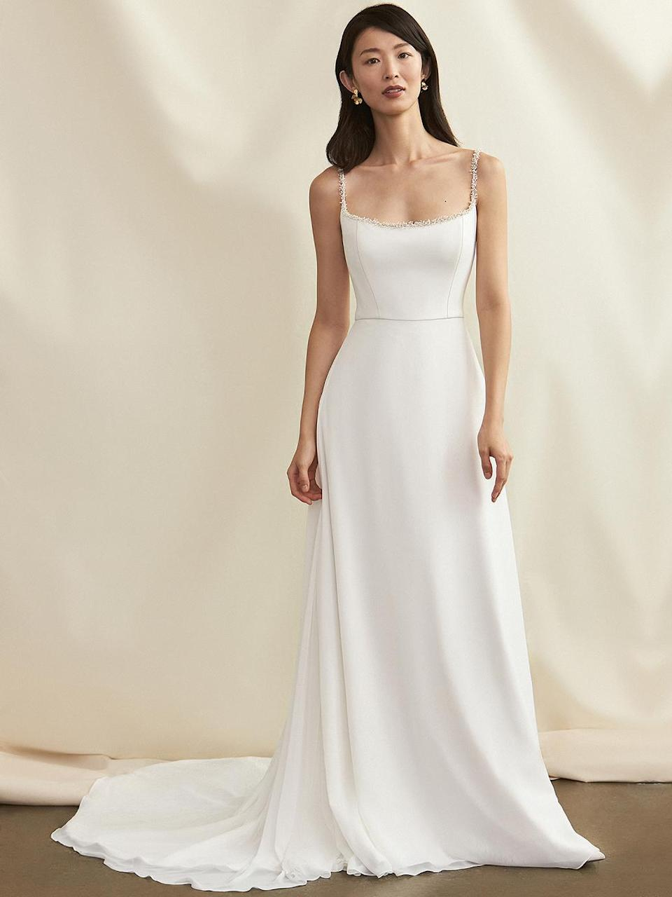 "<p>When searching for the <a href=""https://www.marthastewart.com/620630/dresses-style"" rel=""nofollow noopener"" target=""_blank"" data-ylk=""slk:perfect wedding dress"" class=""link rapid-noclick-resp"">perfect wedding dress</a>, many brides-to-be will use the word ""elegant"" to describe their ideal look. Luckily, that's exactly what Savannah Miller puts forth with her brand-new fall and winter 2021 wedding dress collection, dubbed the Lady of the Lake. This collection of gowns features the understated and elegant style we've come to expect from the bridal house's signatures collections, but with additional inspiration from ancient British medieval mythology. The designer, Savannah Miller, created her eponymous label back in 2016 after working with Alexander McQueen and Matthew Williamson. Taking her knowledge from those fashion trailblazers and her own expertise in elevated bohemian design, she is continuing to forge ahead with her own <a href=""https://www.marthastewart.com/7859258/why-are-wedding-dresses-expensive"" rel=""nofollow noopener"" target=""_blank"" data-ylk=""slk:breathtaking gowns"" class=""link rapid-noclick-resp"">breathtaking gowns</a> that can fit any bride's taste.</p> <p>For this specific collection, Miller wanted to connect to the needs of <a href=""https://www.marthastewart.com/7957398/colorful-celebrity-wedding-dresses"" rel=""nofollow noopener"" target=""_blank"" data-ylk=""slk:today's bride"" class=""link rapid-noclick-resp"">today's bride</a>. ""In these uncertain times it felt important to me to infuse my collection with this energy and spirit to make my brides feel like goddesses no matter how many challenges they may be facing with their wedding arrangements,"" she shared in a statement. ""I have continued to develop the more structured side of my <a href=""https://www.marthastewart.com/600319/fashion"" rel=""nofollow noopener"" target=""_blank"" data-ylk=""slk:design aesthetic"" class=""link rapid-noclick-resp"">design aesthetic</a> to bring corsetry into the realms of comfort and elegance while maintaining the modern and understated and fashion-forward lines so synonymous with the brand.""</p> <p>This means making sure that every design is comfortable, beautiful, and contains the brand's signature <a href=""https://www.marthastewart.com/600307/bridal-fashion-shows"" rel=""nofollow noopener"" target=""_blank"" data-ylk=""slk:timeless appeal"" class=""link rapid-noclick-resp"">timeless appeal</a>. Some of the collection's most memorable features? The designer worked with contemporary lace and also 3D beading designs to give a more feminine feel to some of her structured and <a href=""https://www.marthastewart.com/7945794/wedding-dress-stain-tips-immediately-after-quick-fixes"" rel=""nofollow noopener"" target=""_blank"" data-ylk=""slk:simple gowns"" class=""link rapid-noclick-resp"">simple gowns</a>.</p> <p>Here, find the Savannah Miller Fall and Winter 2021 collection, which is meant to embody the spirit of the fashion-forward bride.</p>"