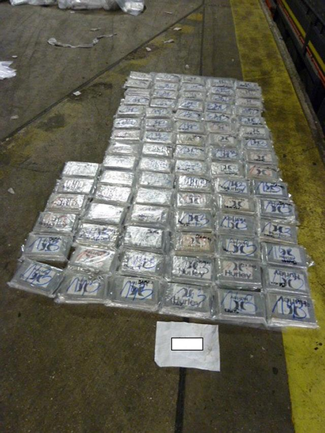 Cocaine found in tyres