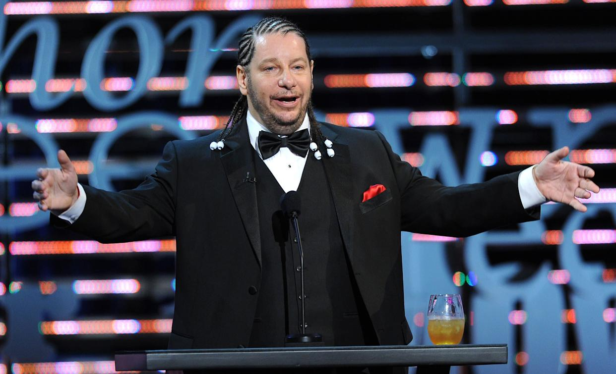 CULVER CITY, CA - AUGUST 25: Comedian Jeffrey Ross speaks onstage during The Comedy Central Roast of James Franco at Culver Studios on August 25, 2013 in Culver City, California. The Comedy Central Roast Of James Franco will air on September 2 at 10:00 p.m. ET/PT. (Photo by Kevin Winter/Getty Images for Comedy Central)