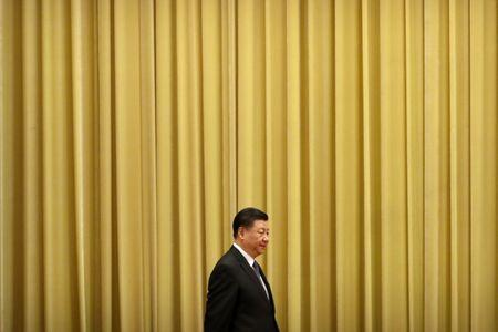 """Chinese President Xi Jinping arrives for an event to commemorate the 40th anniversary of the """"Message to Compatriots in Taiwan"""" at the Great Hall of the People in Beijing, China January 2, 2019. REUTERS/Mark Schiefelbein/Pool"""