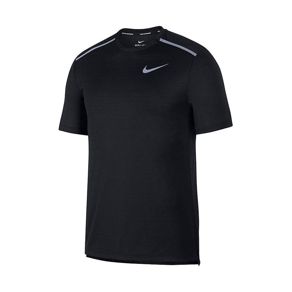 """<p><strong>NIKE</strong></p><p>nordstrom.com</p><p><strong>$26.25</strong></p><p><a href=""""https://go.redirectingat.com?id=74968X1596630&url=https%3A%2F%2Fwww.nordstrom.com%2Fs%2Fnike-miler-dri-fit-running-t-shirt%2F5453024&sref=https%3A%2F%2Fwww.menshealth.com%2Fstyle%2Fg33510339%2Fnordstrom-anniversary-sale-2020%2F"""" rel=""""nofollow noopener"""" target=""""_blank"""" data-ylk=""""slk:Shop Now"""" class=""""link rapid-noclick-resp"""">Shop Now</a></p><p><strong><del>$35</del> $26.25 (25% off)</strong></p><p>Decked out with Nike's signature Dri-FIT material and mesh paneling, this top was practically made for your super-sweaty outdoor runs.<br></p>"""