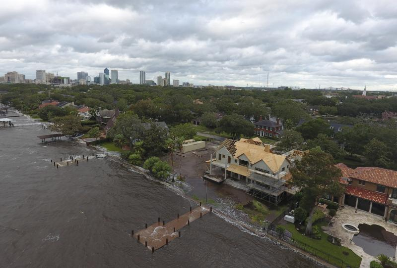 Hurricane Irma delivered storm damage Jacksonville hasn't seen since the 1960s. (AP)