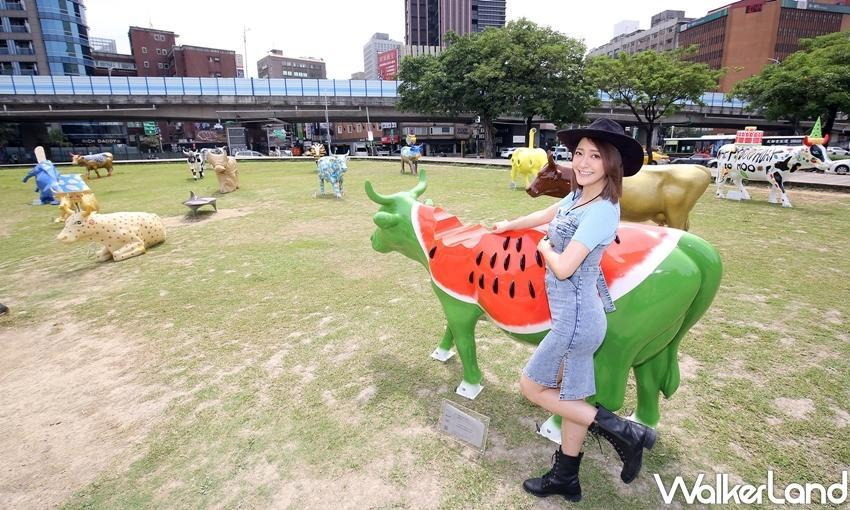 """Besides that, from May 5 to June 30, Cow Parade lovers can also head to the Fubon Financial Center Building where kids and adults alike can create fun memories with the stunning """"livestock."""" (Photo courtesy of Taipei Walker)"""
