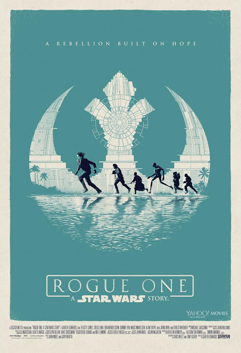 Matt Ferguson's 'Rogue One: A Star Wars Story' poster (Disney)