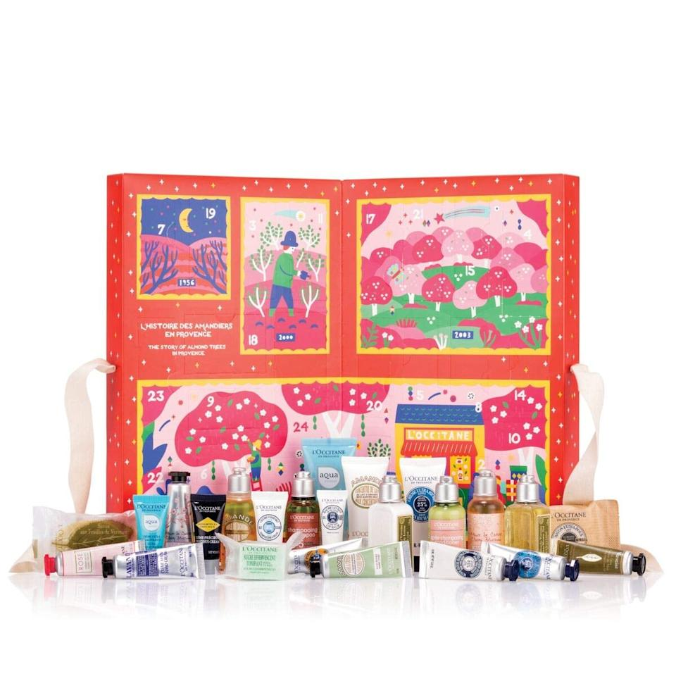 "<p>Everyone loves an advent calendar, and this <a href=""https://www.popsugar.com/buy/LOccitane-Signature-Holiday-Advent-Calendar-533551?p_name=L%27Occitane%20Signature%20Holiday%20Advent%20Calendar&retailer=amazon.com&pid=533551&price=64&evar1=bella%3Aus&evar9=44333917&evar98=https%3A%2F%2Fwww.popsugar.com%2Fbeauty%2Fphoto-gallery%2F44333917%2Fimage%2F47031651%2FLOccitane-Signature-Holiday-Advent-Calendar&list1=gifts%2Camazon%2Cbeauty%20products%2Choliday%2Cgift%20guide%2Cbeauty%20shopping%2Clast-minute%20gifts%2Choliday%20beauty%2Cgifts%20for%20women%2Cgifts%20under%20%2475%2Cbeauty%20gifts&prop13=api&pdata=1"" rel=""nofollow"" data-shoppable-link=""1"" target=""_blank"" class=""ga-track"" data-ga-category=""Related"" data-ga-label=""https://www.amazon.com/gp/product/B07VYX7PDJ/ref=cg_LUXGG3_1c2_w?pf_rd_m=ATVPDKIKX0DER&amp;pf_rd_s=top-slot-3&amp;pf_rd_r=JKTNS9YYRQ00CH5TQCTX&amp;pf_rd_t=0&amp;pf_rd_p=2cfc0659-3eba-4975-bfeb-379e20a8d653&amp;pf_rd_i=gf-events--csm-hol-luxury-beauty-gift-guide"" data-ga-action=""In-Line Links"">L'Occitane Signature Holiday Advent Calendar</a> ($64) is pretty major.</p>"