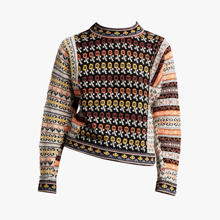 """$625, THE YES. <a href=""""https://www.theyes.com/p/rentrayage/tops/bolivia-long-sleeve-fair-isle-sweater"""" rel=""""nofollow noopener"""" target=""""_blank"""" data-ylk=""""slk:Get it now!"""" class=""""link rapid-noclick-resp"""">Get it now!</a>"""