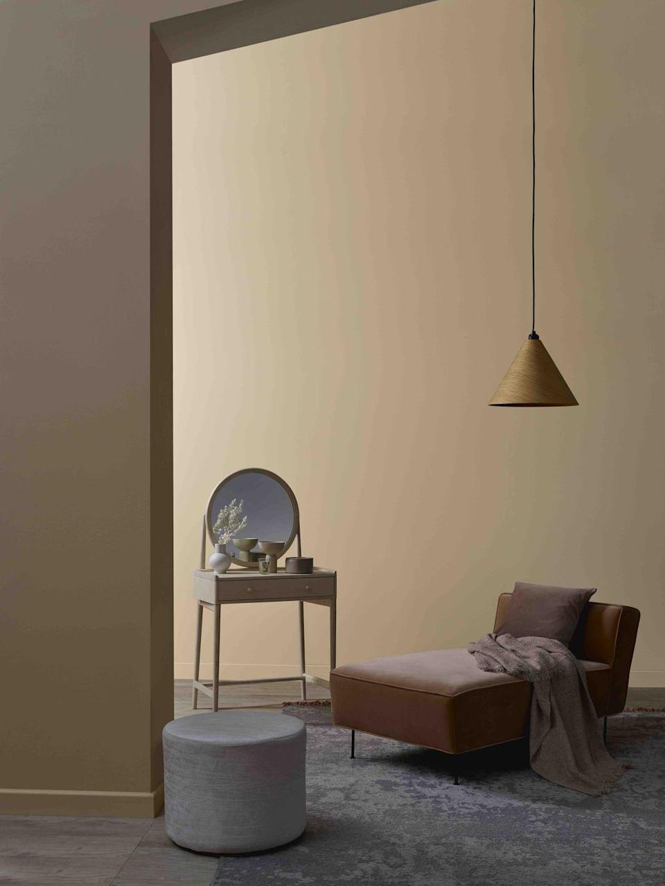 "<p>The current revival for all things nineties has extended to interiors. When it comes to decorating, that means a reignited love affair with warm taupes and soft beige. Colours which are perfectly suited to a cocooning snug, such as '<a href=""https://www.crownpaints.co.uk/products/elle-decoration-by-crown/powder---flat-matt/delicately-dark-no.-568/18104"" rel=""nofollow noopener"" target=""_blank"" data-ylk=""slk:Delicately Dark"" class=""link rapid-noclick-resp"">Delicately Dark</a>', shown here.</p>"