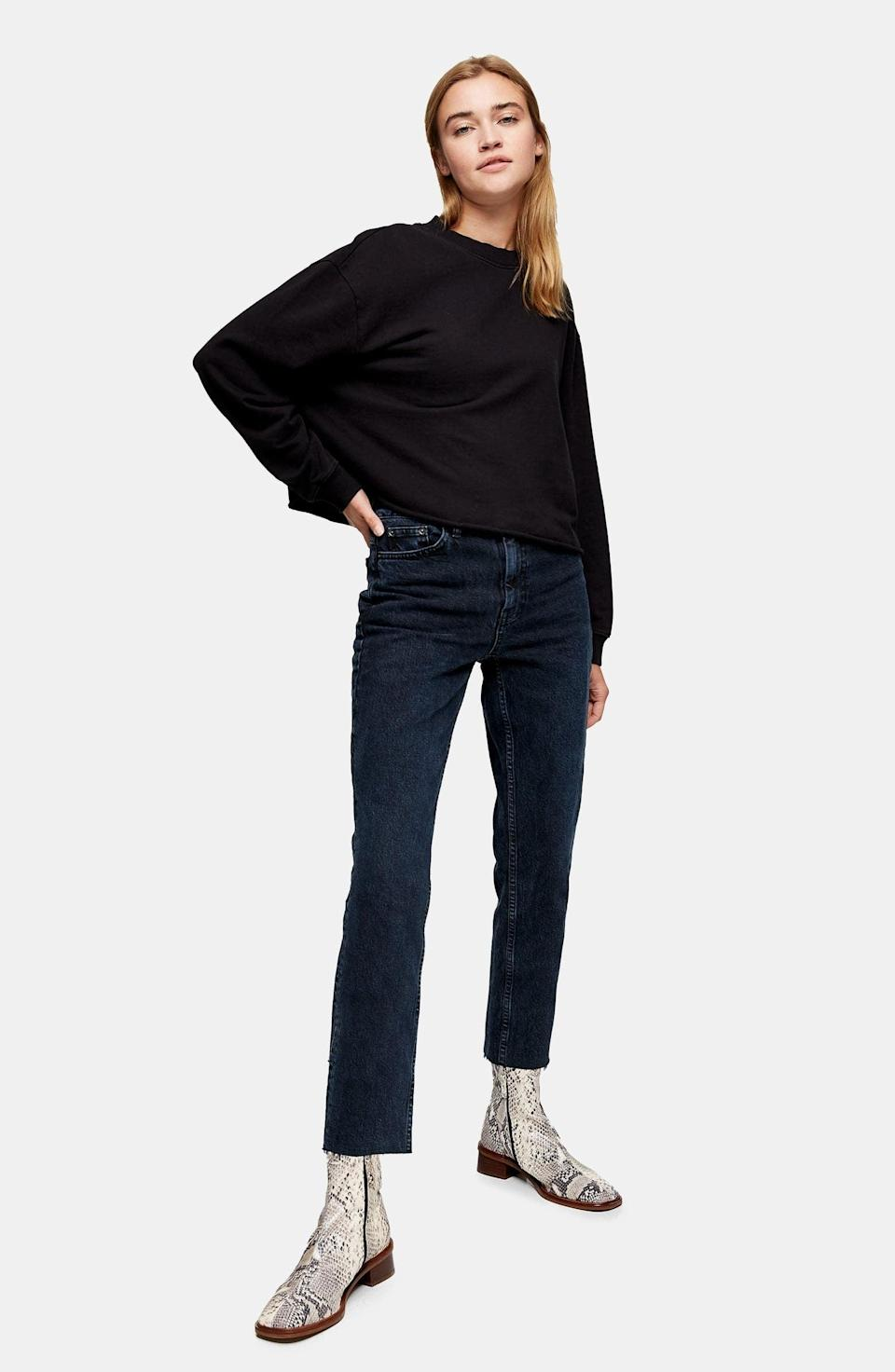 <p><span>Topshop Raw Hem Crop Straight Leg Jeans</span> ($38, originally $75)</p>