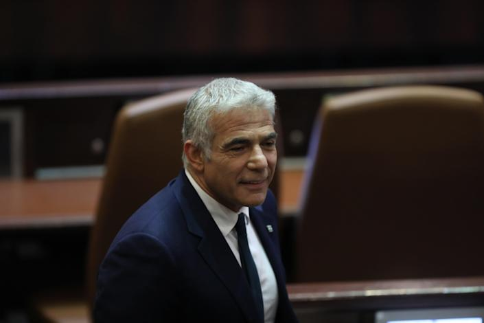 Leader of the Yesh Atid party, Yair Lapid  (EPA)