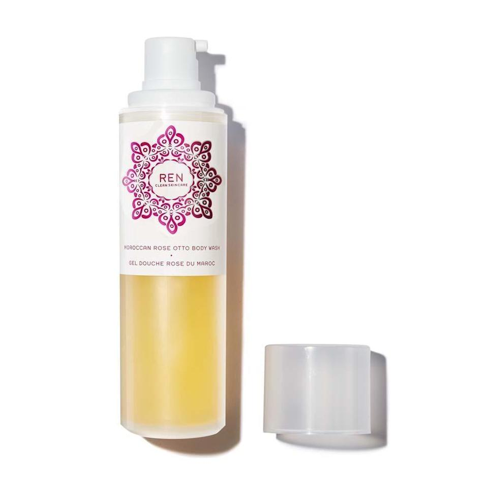 <p>This <span>Ren Moroccan Rose Otto Body Wash</span> ($30) has rave reviews from customers because it's basically a rose-scented gift from the shower gods.</p>