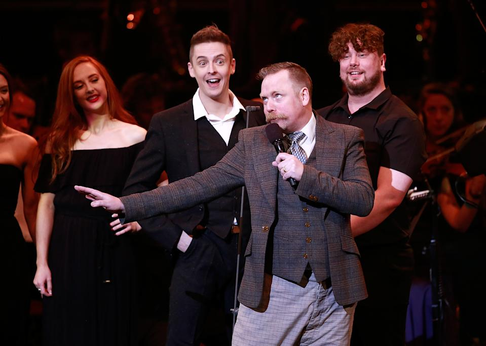 LONDON, ENGLAND - MAY 04: Rufus Hound performs excerpts from 'The Wind in The Willows' on stage as part of 'Magic at the Musicals' at The Royal Albert Hall on May 4, 2017 in London, United Kingdom. (Photo by John Phillips/John Phillips/Getty Images)