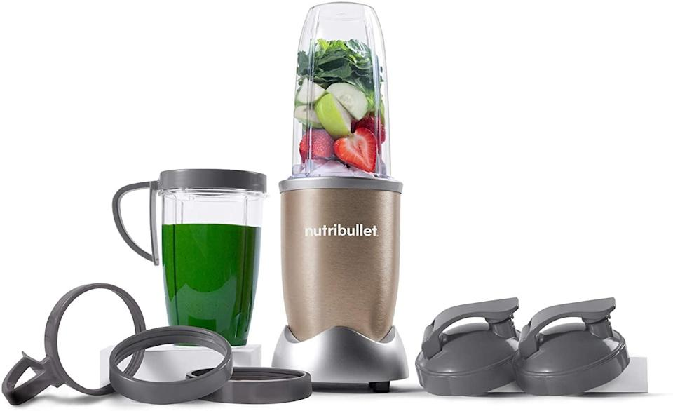 """<p>A quality high-speed blender makes whipping up sauces, soups, and smoothies a breeze. The NutriBullet even comes with sealable lids for the blender cups, which makes for easy storage. </p> <p><a href=""""https://www.popsugar.com/buy/NutriBullet-Pro-13-Piece-High-Speed-BlenderMixer-System-579726?p_name=NutriBullet%20Pro%2013-Piece%20High-Speed%20Blender%2FMixer%20System&retailer=amazon.com&pid=579726&price=89&evar1=fit%3Auk&evar9=44742696&evar98=https%3A%2F%2Fwww.popsugar.com%2Ffitness%2Fphoto-gallery%2F44742696%2Fimage%2F44743258%2FReusable-Blender-Cups-Daily-Smoothies&list1=healthy%20living%2Chealthy%20cooking%20tips%2Cmeal%20prep&prop13=api&pdata=1"""" class=""""link rapid-noclick-resp"""" rel=""""nofollow noopener"""" target=""""_blank"""" data-ylk=""""slk:NutriBullet Pro 13-Piece High-Speed Blender/Mixer System"""">NutriBullet Pro 13-Piece High-Speed Blender/Mixer System</a> ($89)</p>"""