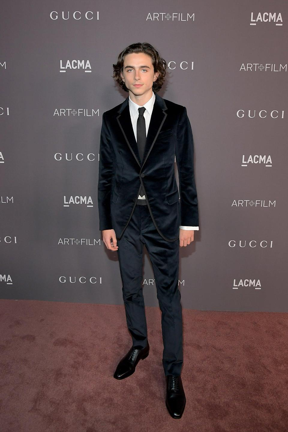"<h2>Gucci</h2>Move aside Jared Leto and Harry Styles — Timothée Chalamet is quickly becoming our favorite guy in Gucci.<span class=""copyright""> Photo: Charley Gallay/Getty Images.</span>"