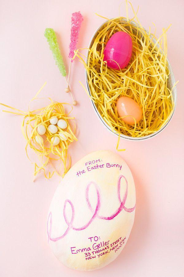 "<p>If you're planning to mail treats to far-flung relatives, have the kids decorate small egg-shaped boxes, then fill each one with candy and a few special trinkets. </p><p>Get the tutorial at <a href=""https://studiodiy.com/2014/04/14/diy-easter-egg-gram/"" rel=""nofollow noopener"" target=""_blank"" data-ylk=""slk:Studio DIY."" class=""link rapid-noclick-resp"">Studio DIY.</a></p><p><a class=""link rapid-noclick-resp"" href=""https://www.amazon.com/d%C3%A9copatch-Mache-Medium-Egg-Brown/dp/B00SOUYRAC/?tag=syn-yahoo-20&ascsubtag=%5Bartid%7C10072.g.30506642%5Bsrc%7Cyahoo-us"" rel=""nofollow noopener"" target=""_blank"" data-ylk=""slk:SHOP EGG BOX"">SHOP EGG BOX</a></p>"