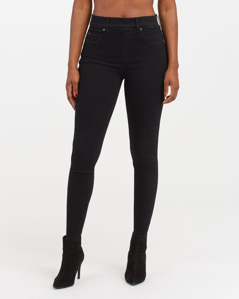 The customer favourite Ankle Skinny Jeans are back in stock in Black. Image via Spanx.