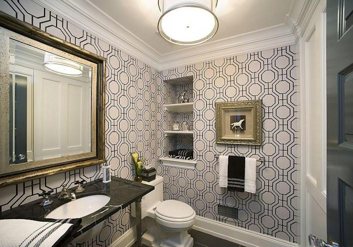 powder room design by Diane Bishop Interiors