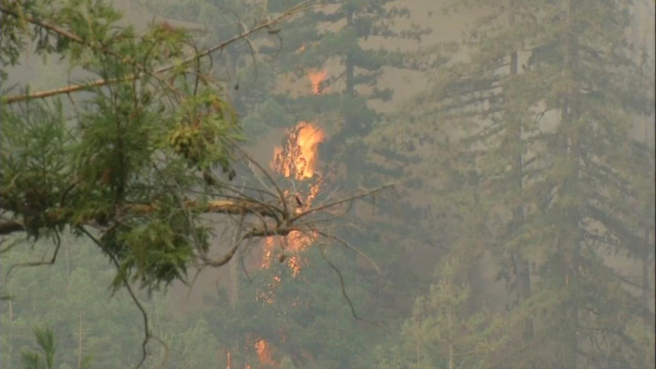 The Bear Fire in the Santa Cruz Mountains has burned 270 acres and is 10 percent contained. Four structures were destroyed and about 150 are in danger.