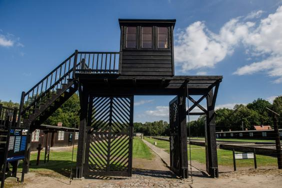 The former German Nazi concentration camp Stutthof (KFP/AFP via Getty)