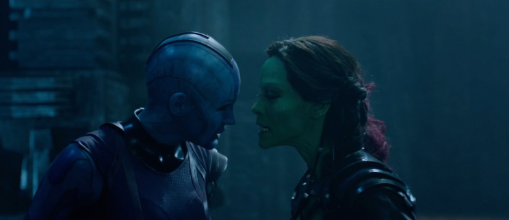 Nebula and Gamora, Guardians of the Galaxy Karen Gillan Zoe Saldana