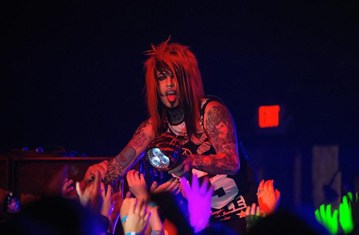 Dahvie Vanity performs onstage at the Emerson Theater in Indianapolis on November 30, 2014.