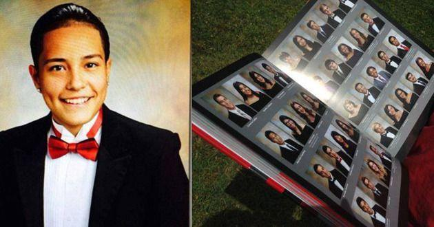 Crystal Cumplido's photo was excluded from her high school yearbook. Photo: Facebook/KTLA News