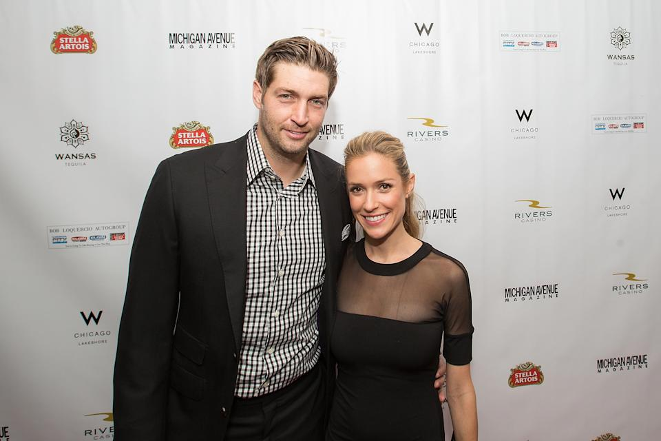 CHICAGO, IL - SEPTEMBER 09:  (L-R) Jay Cutler and Kristin Cavallari attend Michigan Avenue Magazine's Fall Fashion Issue Celebration With Kristin Cavallari at W Chicago Lakeshore on September 9, 2014 in Chicago, Illinois.  (Photo by Jeff Schear/Getty Images for Michigan Avenue Magazine)