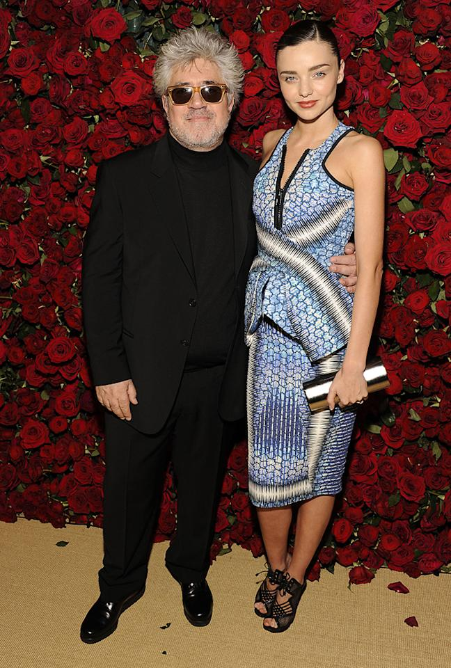 "<a href=""http://movies.yahoo.com/movie/contributor/1800023081"">Pedro Almodovar</a> and Miranda Kerr attend the Museum of Modern Art's 4th annual film benefit ""A Tribute to Pedro Almodovar"" at the Museum of Modern Art on November 15, 2011 in New York City."