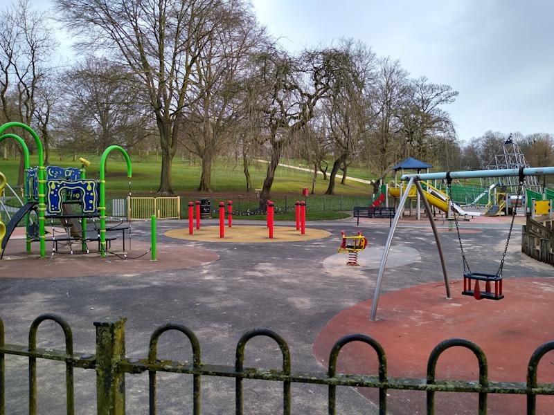 The park where Emily was stabbed. (Phil Taylor/SWNS)