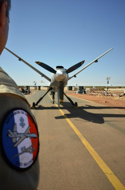 Air power: An armed Reaper drone at Barkhane's military base in Niamey, Niger