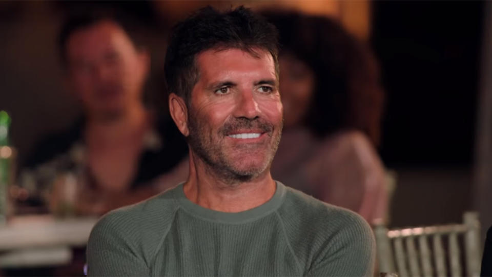 Simon Cowell turned heads with his arresting appearance on the X-Factor