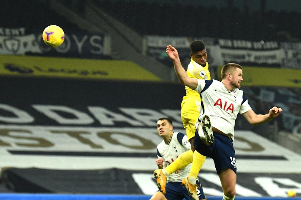 Ivan Cavaleiro beats Eric Dier to score Fulham's equaliser.Getty Images