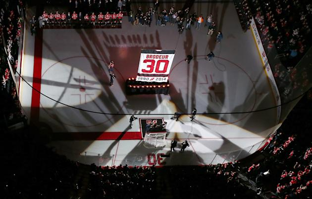 half off ec305 c6da2 Martin Brodeur, Devils fans finally have closure at number ...